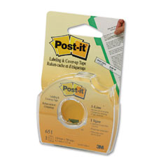 Post-it - removable cover-up tape, non-refillable, 1/6-inch x 700-inch roll, sold as 1 rl