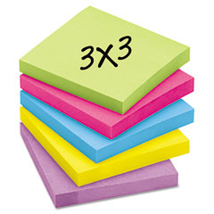 Post-it notes super sticky - super sticky notes, 3 x 3, five jewel pop colors, 12 90-sheet pads/pack, sold as 1 pk