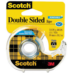 Scotch - 667 double-sided removable office tape and dispenser, 3/4-inch x 400-inch, sold as 1 rl