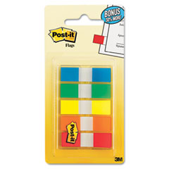 Post-it flags - flags in portable dispensers, standard colors, 5 dispensers of 20 flags/color, sold as 1 pk