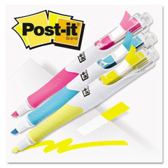 Post-it flag + highlighter - flag highlighters, blue/yellow/pink, 50 flags/pen, 3/pk, sold as 1 pk
