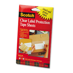 Scotch - scotchpad label protection tape pads, 4 x 6, 2 25-sheet pads/pack, sold as 1 pk