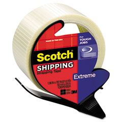 Scotch - extreme application packaging tape & dispenser, 1.88-inch x 21 yards, 3-inch core, sold as 1 rl