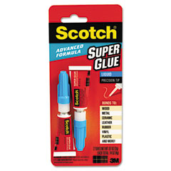 Scotch - scotch single use super glue, 1/2 gram tube, liquid, sold as 1 pk