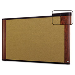 3m - cork bulletin board, 36 x 24, mahogany frame, sold as 1 ea