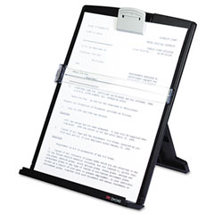 3m - fold-flat freestanding desktop copyholder, plastic, 150 sheet capacity, black, sold as 1 ea