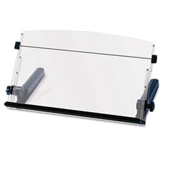 3m - in-line freestanding copyholder, plastic, 300 sheet capacity, black/clear, sold as 1 ea