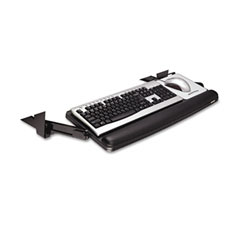 3m - underdesk adjustable keyboard drawer, 28-7/8 x 16-7/8, black/charcoal gray, sold as 1 ea