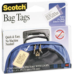 Scotch - self-sealing laminating sheets, 12.5 mil, 2-13/16 x 4-9/16, luggage tag size, 5, sold as 1 pk
