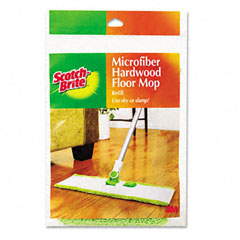 Scotch-brite - hardwood floor mop refill, microfiber, sold as 1 ea