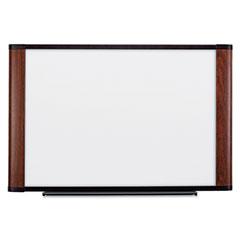 3m - melamine dry erase board, 48 x 36, mahogany frame, sold as 1 ea