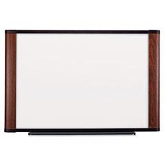 3m - melamine dry erase board, 72 x 48, mahogany frame, sold as 1 ea