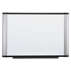 3m - melamine dry erase board, 96 x 48, aluminum frame, sold as 1 ea