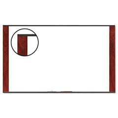 3m - melamine dry erase board, 96 x 48, mahogany frame, sold as 1 ea