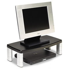 3m - extra-wide adjustable monitor stand, black, sold as 1 ea