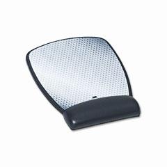 3m - precise leatherette mouse pad w/standard wrist rest, 6-3/4 x 9-1/8, black, sold as 1 ea
