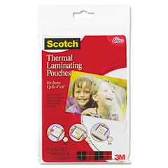 Scotch - photo size thermal laminating pouches, 5 mil, 6 x 4, 20/pack, sold as 1 pk