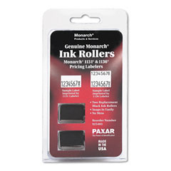 Monarch - 925403 replacement ink rollers, black, 2/pack, sold as 1 pk