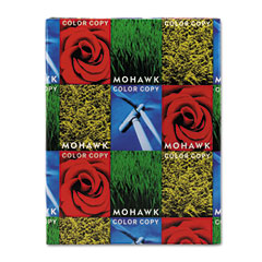Mohawk 36-113 Color Copy Gloss Cover Paper, 100 Lbs., 96 Brightness, Letter, White, 250 Sheets