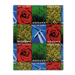 Mohawk - color copy 100% recycled paper, 96 brightness, 28lb 8-1/2x11, white, 500 shts/rm, sold as 1 rm