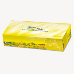 Marcalpro - 100% premium recycled facial tissue, 100/box, 30 boxes/carton, sold as 1 ct