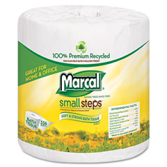 Marcal small steps - 100% premium recycled 2-ply embossed toilet tissue, 48 rolls/carton, sold as 1 ct
