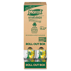 Marcal small steps - 100% recycled roll-out convenience pack bathroom tissue, 504 sheets/roll, sold as 1 ct