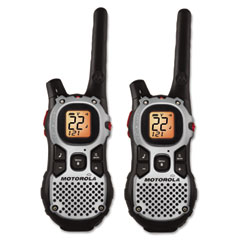 Motorola MJ270R Mj270R Talkabout Two-Way Radios, 22 Channel, 1 Watt, 22 Frequency, .21Lb, 2/Pack