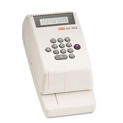 Max - electronic checkwriter, 10-digit, 4-3/8 x 9-1/8 x 3-3/4, sold as 1 ea