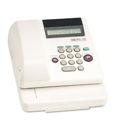 Max - electronic checkwriter, 14-digit, 7-7/8 x 9-5/8 x 3-5/8, sold as 1 ea