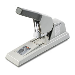 Max Usa HD-12F High-Capacity Flat-Clinch Heavy-Duty Stapler, 150-Sheet Capacity, Gray