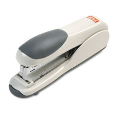 Max Usa HD-50DFGY Flat-Clinch Standard Stapler, 30-Sheet Capacity, Gray