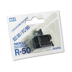 Max - r50 replacement ink roller, black, sold as 1 ea