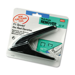 Max Usa RZ-3F Heavy-Duty Staple Remover, Black
