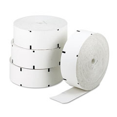 "NCR NCR856047 ATM Paper Rolls, 3-1/8"" x 2,500 ft, White, 4/Carton"
