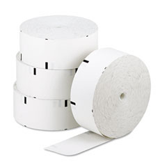 "NCR NCR856597 ATM Paper Rolls, 3-1/8"" x 1,960 ft, White, 4/Carton"