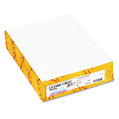 Neenah Paper 01338 Classic Crest Stationery Writing Paper, 24-Lb., 8-1/2 X 11, Avon White, 500/Ream