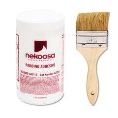 Nekosa 42284 Coated Products Fan-Out Padding Adhesive, 32 Oz, Liquid