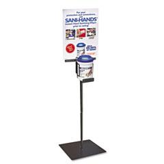 NIC Q766FH Sani-Hands Floor Stand, Steel, 19D X 19W X 40H, Black