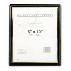 Nu-Dell 11800 Ez Mount Document Frame, Plastic, 8 X 10, Black
