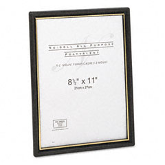 Nu-Dell 11818 Ez Mount Document Frames, Plastic, 8-1/2 X 11, Black, 18/Pack