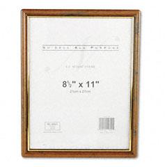 Nu-Dell 11890 Ez Mount Document Frame, Plastic, 8-1/2 X 11, Walnut