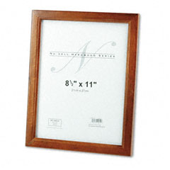 Nu-Dell 15815 Solid Oak Hardwood Frame, 8-1/2 X 11, Walnut Finish