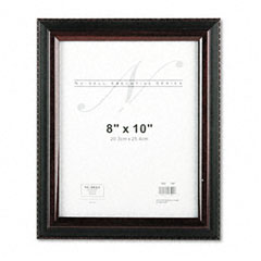 Nu-Dell 17401 Executive Document Frame, Plastic, 8 X 10, Black/Mahogany