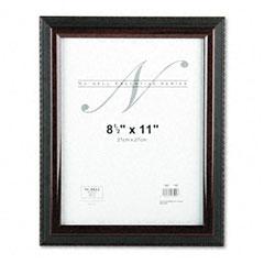 Nu-Dell 17402 Executive Document Frame, Plastic, 8-1/2 X 11, Black/Mahogany