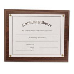 Nu-Dell 18811M Award-A-Plaque Document Holder, Acrylic/Plastic, 10-1/2 X 13, Walnut