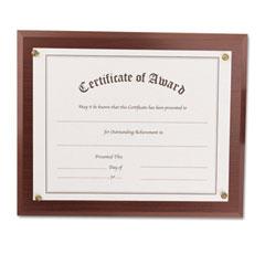 Nu-Dell 18813M Award-A-Plaque Document Holder, Acrylic/Plastic, 10-1/2 X 13, Mahogany
