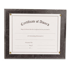 Nu-Dell 18815M Award-A-Plaque Document Holder, Acrylic/Plastic, 10-1/2 X 13, Black