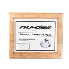Nu-Dell 18861M Bamboo Certificate/Document Straight Edge Frame, 8 1/2 X 11 Insert, Oak