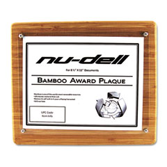 Nu-Dell 18862M Bamboo Certificate/Document Rounded Edge Frame, 8 1/2 X 11 Insert, Oak